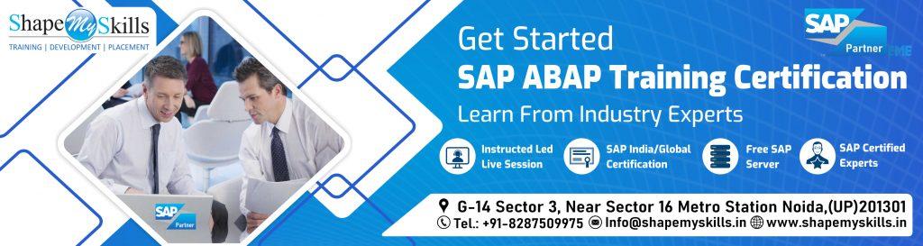 SAP ABAP TRAINING ONLINE