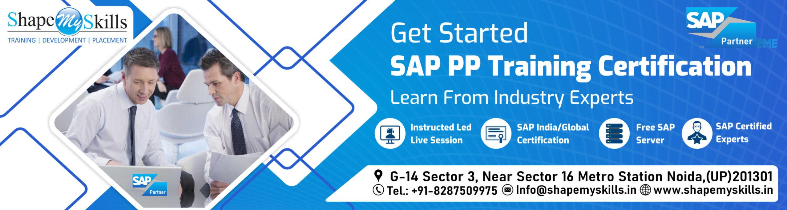 SAP PP Online Training in Noida