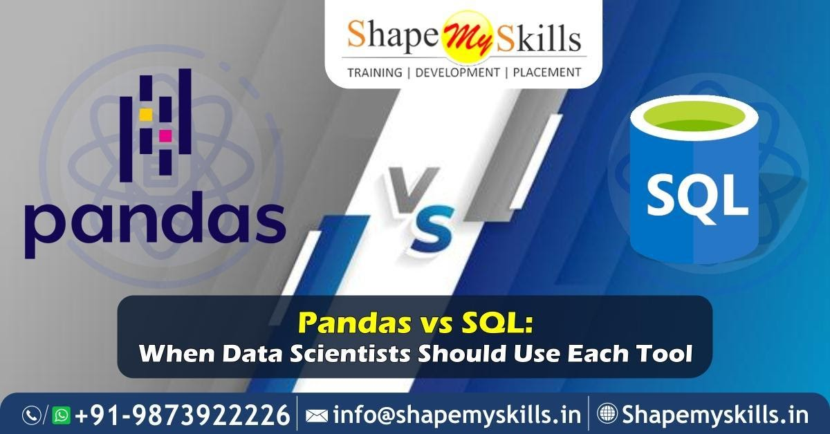 Pandas vs SQL: When Data Scientists Should Use Each Tool